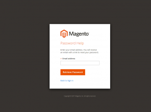 magento 2 reset password