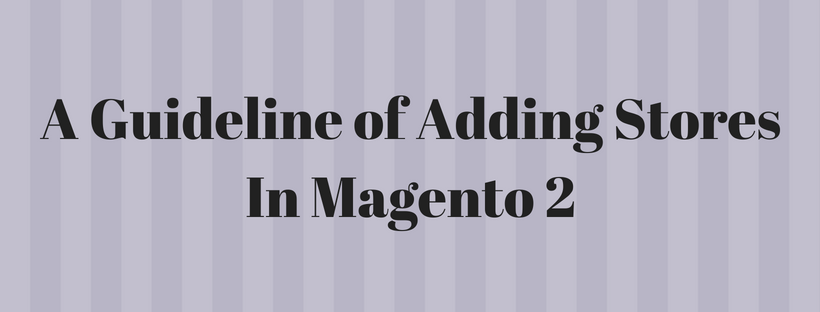 A Complete Guideline of Adding Stores In Magento 2
