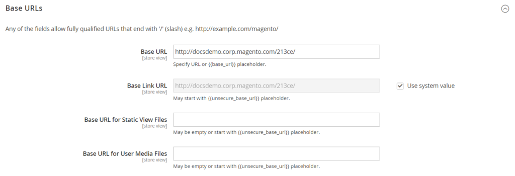 Base URL Configure Store URL In Magento 2