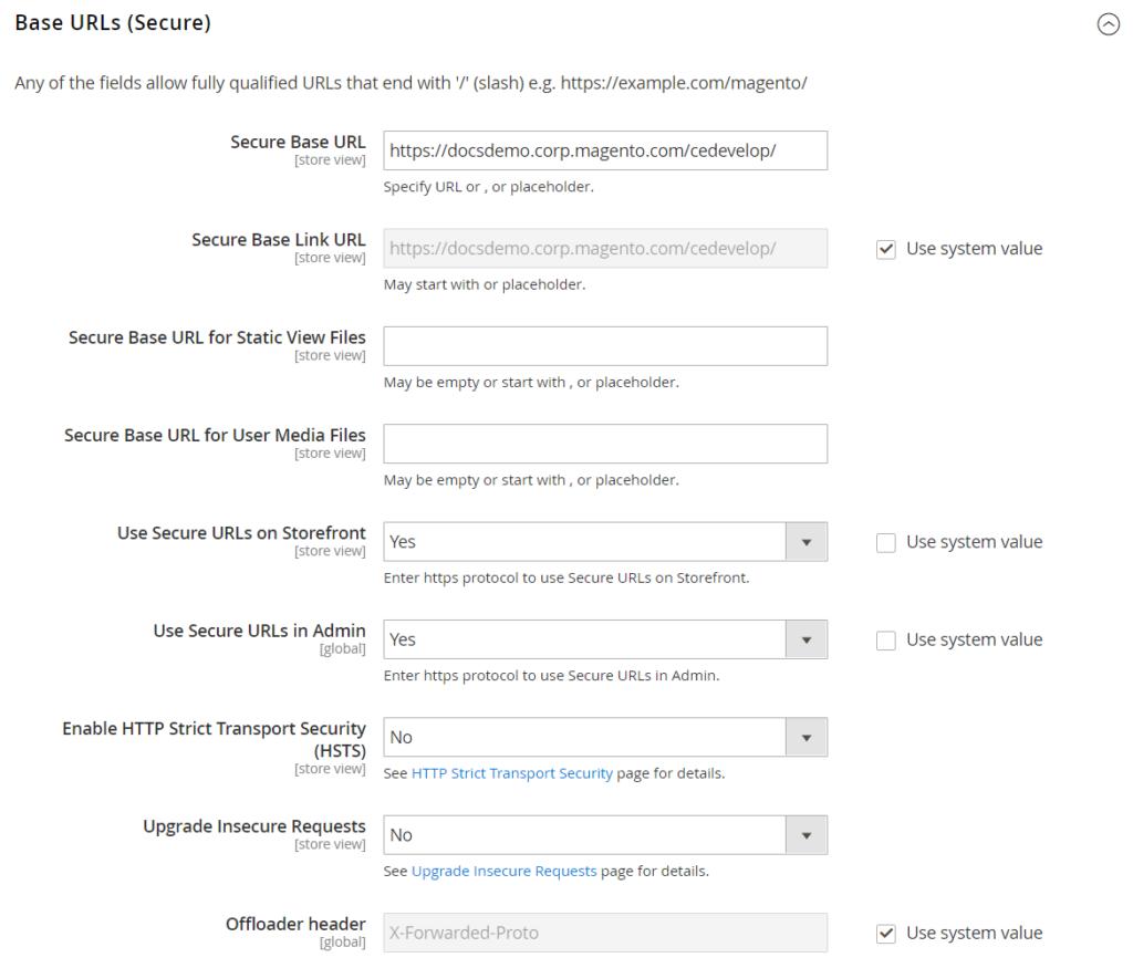 Base URLs (Secure)