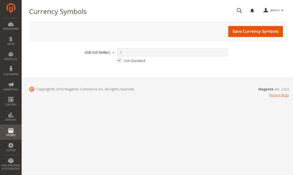 Currency Symbols In magento 2