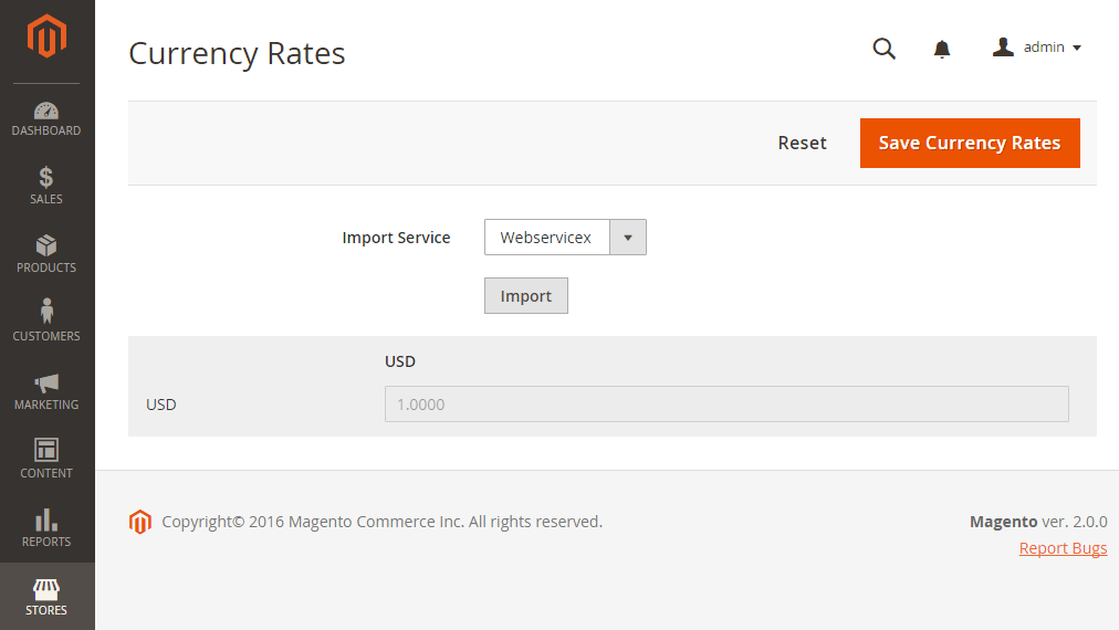 Update Currency Rates In Magento 2